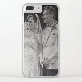 G & B Wedding portrait Clear iPhone Case