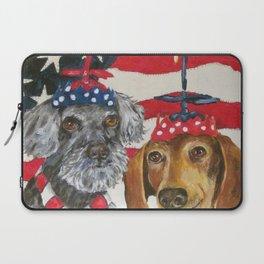 4th of July Celebration Dog Style Laptop Sleeve