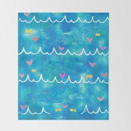 Sea of Love Throw Blanket