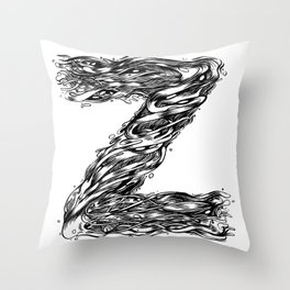 The Illustrated Z Throw Pillow