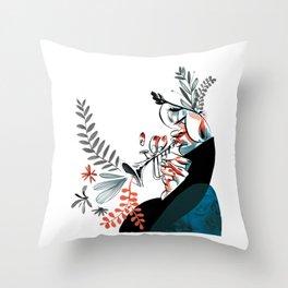 natural jazz Throw Pillow