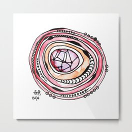 Pink Quarz Metal Print