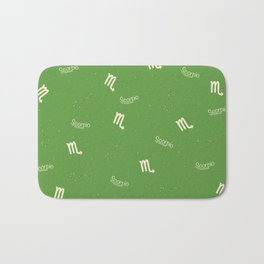 Scorpio Pattern - Green Bath Mat