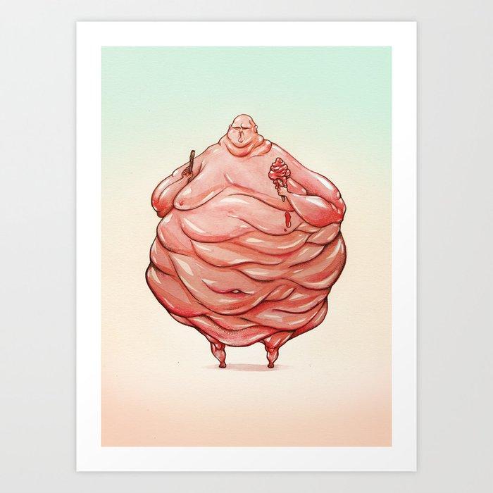 Ice Cream Man Art Print