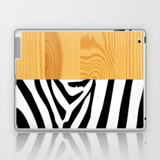 Zebra on wood Laptop & iPad Skin