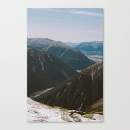 View from Avalanche Peak Canvas Print
