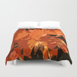 Orange Bush Lily Duvet Cover