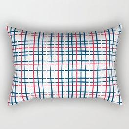 4th of July Skinny Gingham Rectangular Pillow
