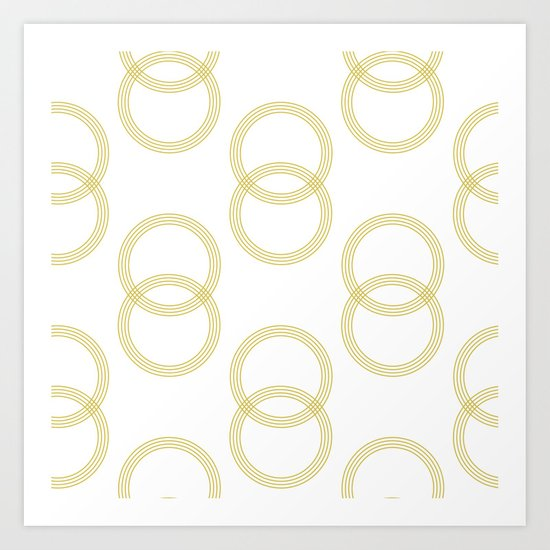 Simply Infinity Link Mod Yellow and White Art Print