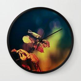 Hazelnuttree in Autumnlight Wall Clock