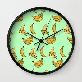 Retro Bananas Wall Clock