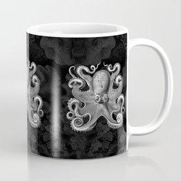 Octopus1 (Black & White, Square) Coffee Mug