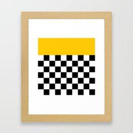 Marigold & Checkers Framed Art Print