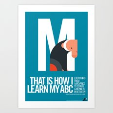 Animal Alphabet M Art Print