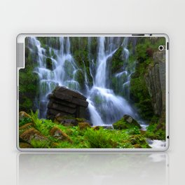 Waterfall in the mountain park Laptop & iPad Skin