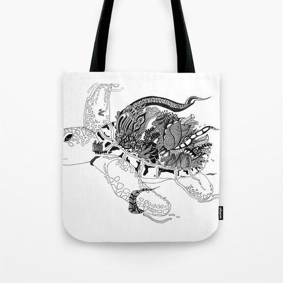 Inking Turtle Tote Bag