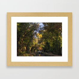 TREE VIGNETTE Framed Art Print