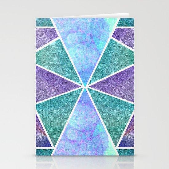 Geometric Reflection Stationery Cards