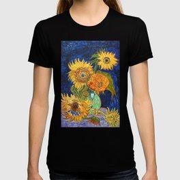Van Gogh, Five Sunflowers 1888 Artwork Reproduction, Posters, Tshirts, Prints, Bags, Men, Women, Kid T-shirt