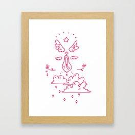 Starry Vagina Framed Art Print