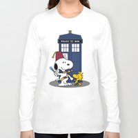 snoopy Long Sleeve T-shirts featuring Snoopy Who by plasticdoughnut