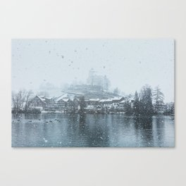 Snowy Castle Canvas Print