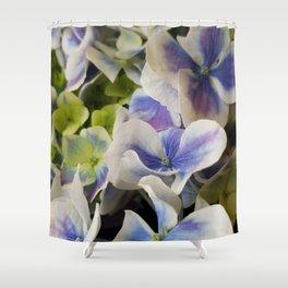 Hydrangea in Blue 3 - Close Up Like Butterflies Shower Curtain