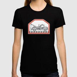 Tow Wrecker Truck Side Retro T-shirt