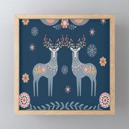 Nordic Winter Blue Framed Mini Art Print