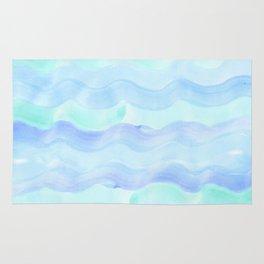 water color waves Rug