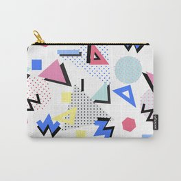 Memphis Style 80s Nostalgia design - White Background Carry-All Pouch