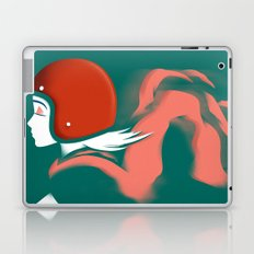 Moped Girl Laptop & iPad Skin