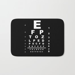 Inverted Eye Test Chart Bath Mat