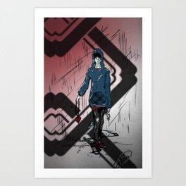 Heartbreak Series: Heart on a Chain Art Print