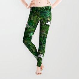 Irish Unicorn in a Garden of Green Leggings