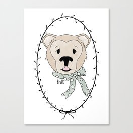 Bashful Bear Canvas Print