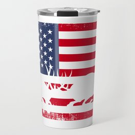 American Vintage deer Hunting Travel Mug