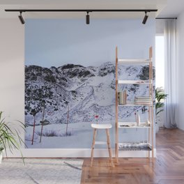 Mountains not yet ready for skiing Wall Mural