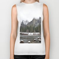 yosemite Biker Tanks featuring Yosemite by Lydia Gifford