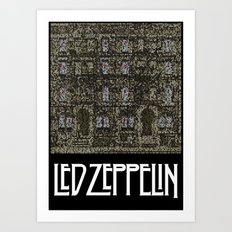 Physical Graffiti. Zeppelin lyrics print. Art Print