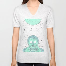 Zombies Ate My Cheeseburgers  Unisex V-Neck