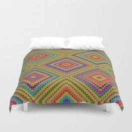 hang on to rhomb self Duvet Cover