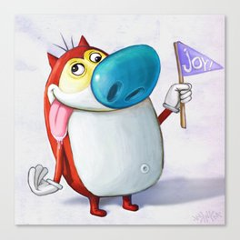 Stimpson J. Cat Canvas Print