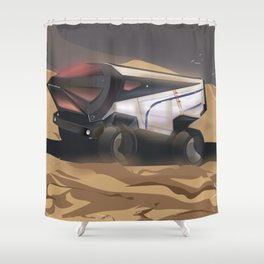 Mars, Enlist Today! Mars Rover travel poster Shower Curtain