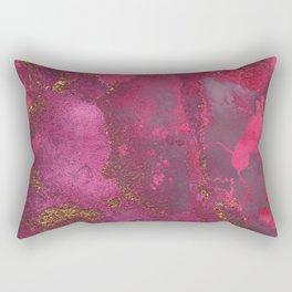 Pink and Gold Blush Rose Glitter Gemstone Marble Rectangular Pillow