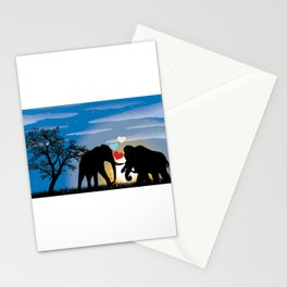 Elephant Love Mammoth Stationery Cards