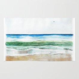 Ocean Watercolor Rug