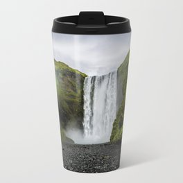Skogafoss Waterfall Iceland Travel Mug