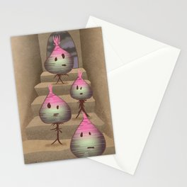 turnips descending a staircase Stationery Cards