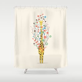 I Brought You These Flowers Shower Curtain